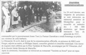 Commémoration 26 avril 1998
