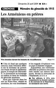 Commémoration 24 avril 2004