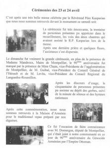 Commémoration 24 avril 2005