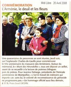 Commémoration 26 avril 2008