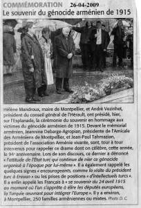 Commémoration 26 avril 2009